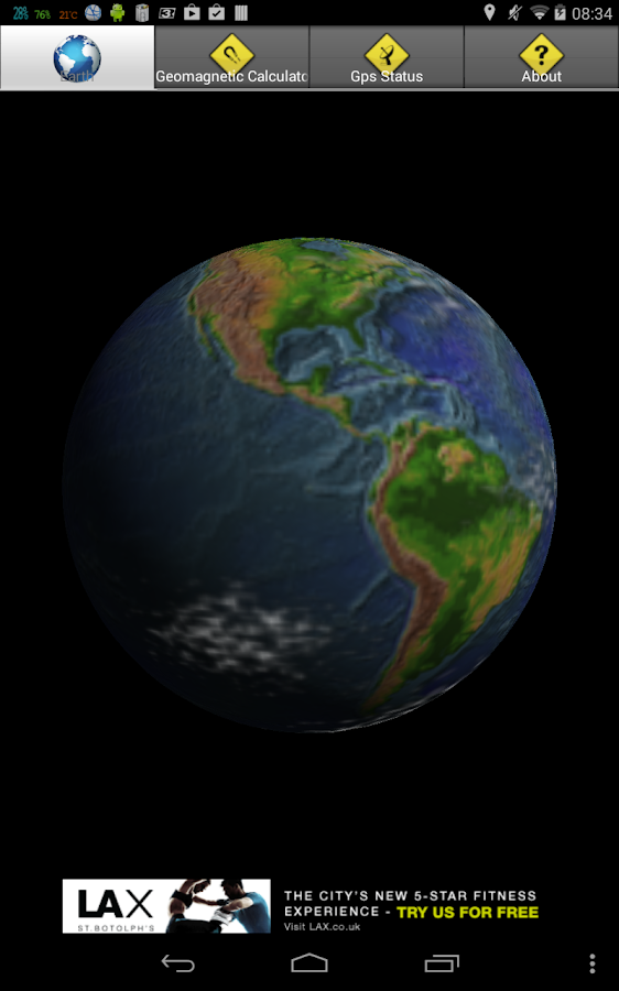 EarthGeoMagnetic Calculator 3D- screenshot