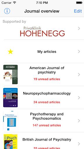 Journal Scan Psychiatry