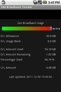 Zen Broadband Checker - screenshot thumbnail