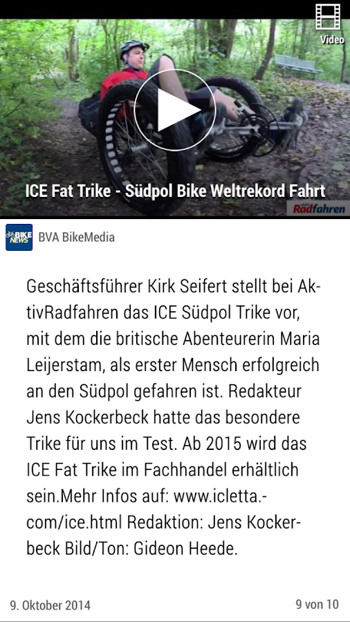 Bike News- screenshot