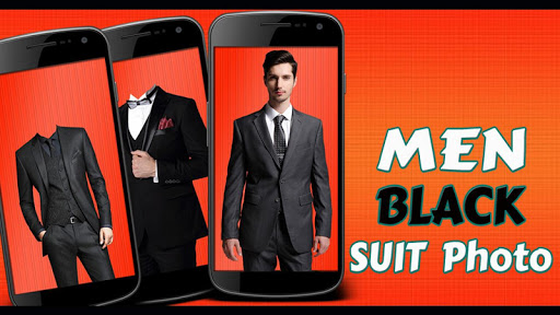 Man Black Suit Photo Montage