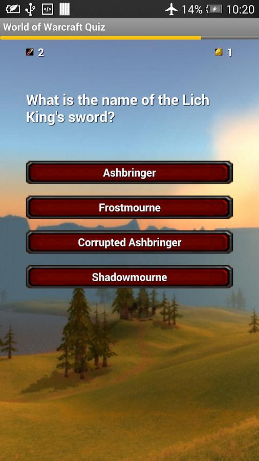 The Unofficial WoW Quiz- screenshot