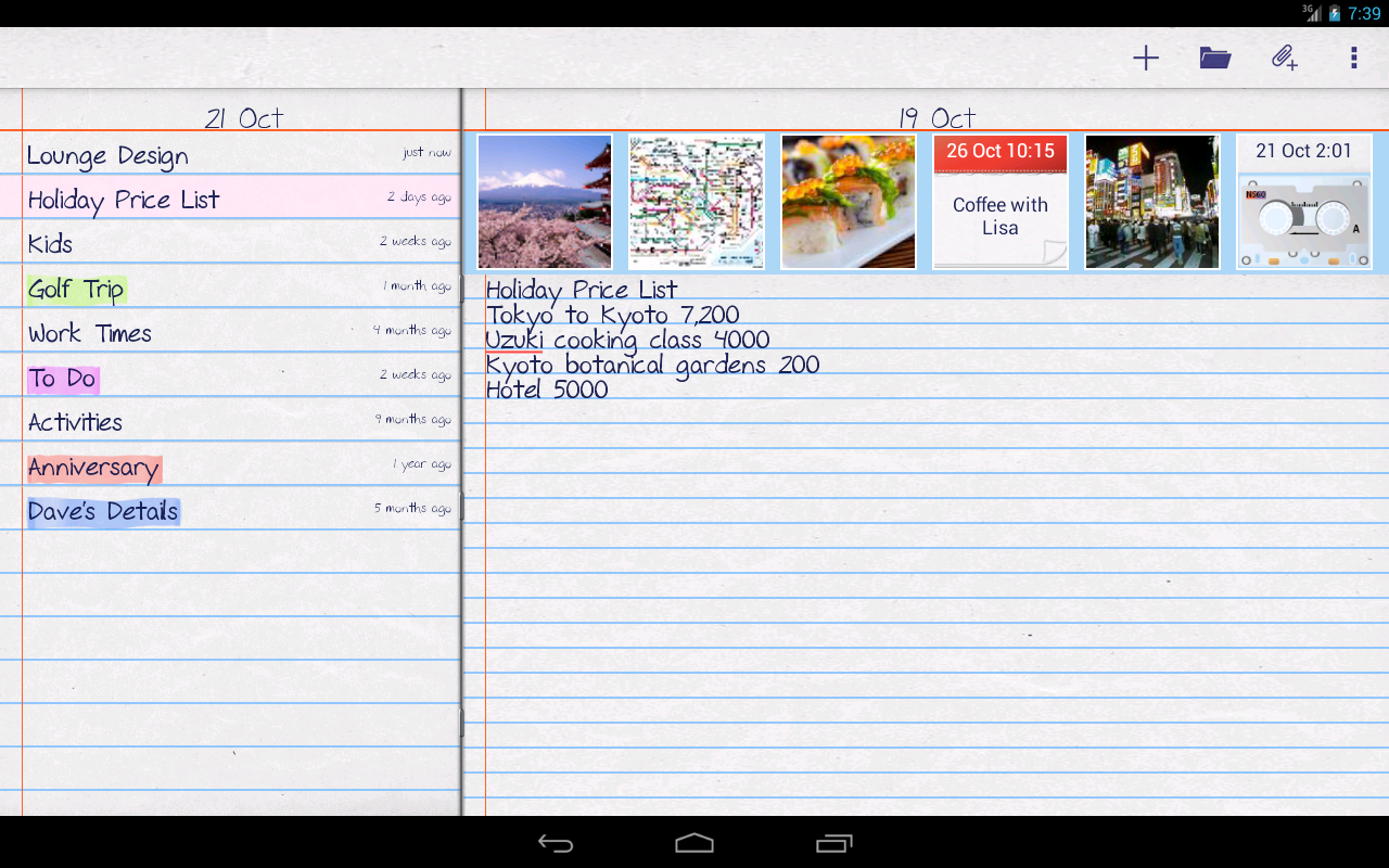 notePad Free Photos,Sounds - screenshot