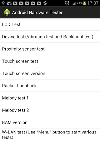 Hardware Tester for Android