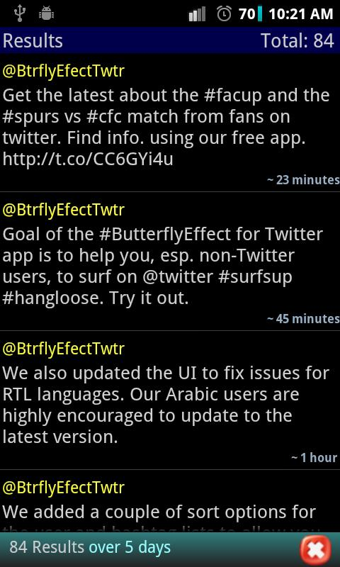 #butterflyEffect- screenshot