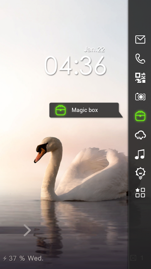 Swan Free Live Locker Theme - screenshot