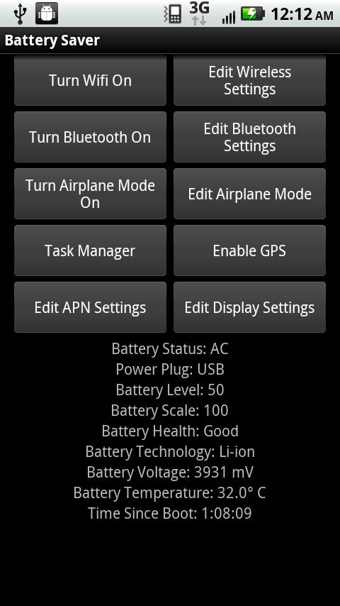 Battergizer Battery Saver - screenshot