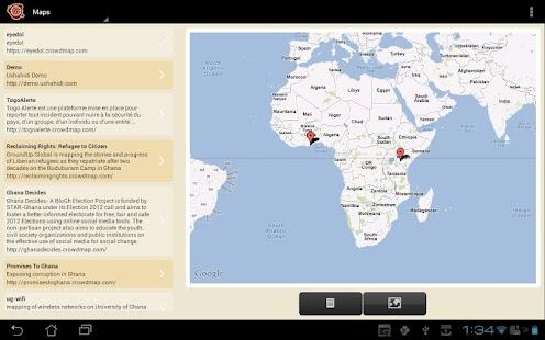 Ushahidi- screenshot thumbnail