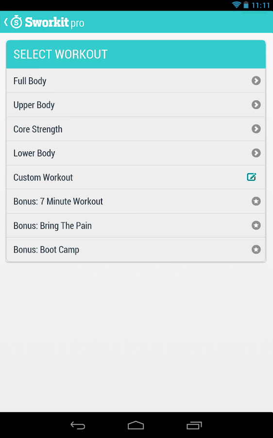 Sworkit Pro - screenshot