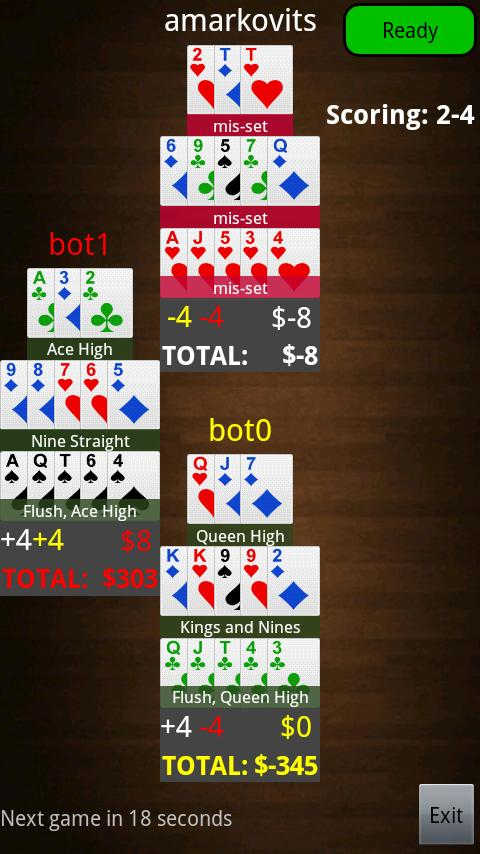 Beta Chinese Poker Online - screenshot
