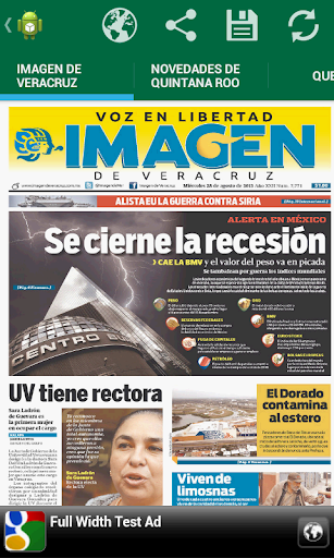 Front Pages of Mexico