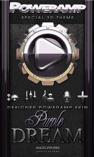 Poweramp skin Purple Dream