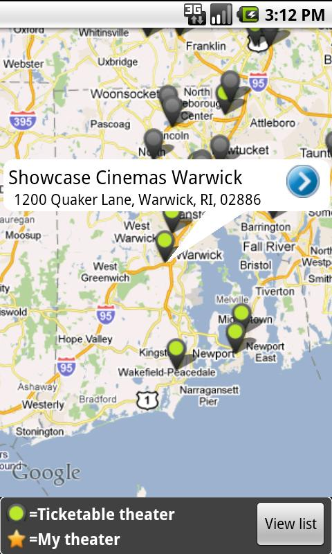 MovieTickets.com - screenshot