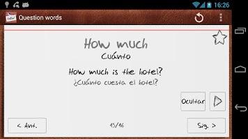 Screenshot of Aprende inglés con tarjetas