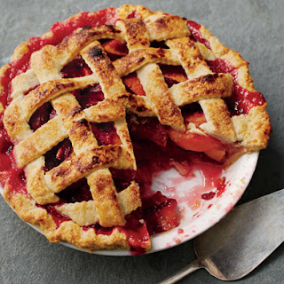 Nectarine, Plum, and Raspberry Pie.