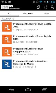 Procurement Leaders -PL Events