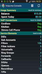 VoIP.ms Console- screenshot thumbnail