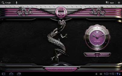 dragon digital clock rose APK screenshot thumbnail 10