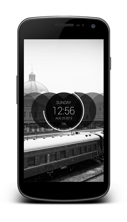 Circles Clock - UCCW Skin - screenshot