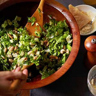 Green Salad with White Beans, Apples, and Walnuts