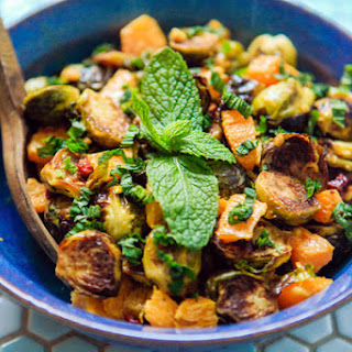 Roasted Brussels Sprouts With Peanut Vinaigrette