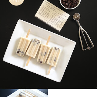 Cookie Dough Popsicles.