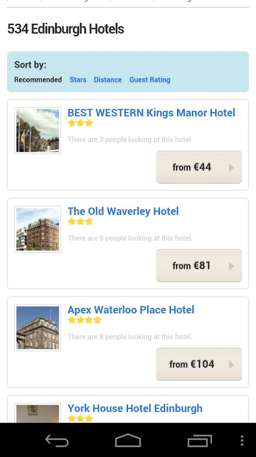 All Edinburgh Hotels - screenshot