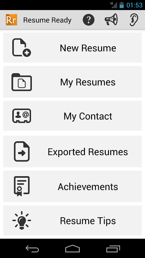 resume ready pro android apps on play
