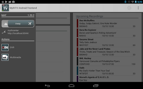MythTV Android Frontend- screenshot thumbnail