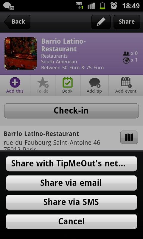 TipMeOut - screenshot