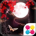 和風幻想月夜 for[+]HOMEきせかえテーマ icon