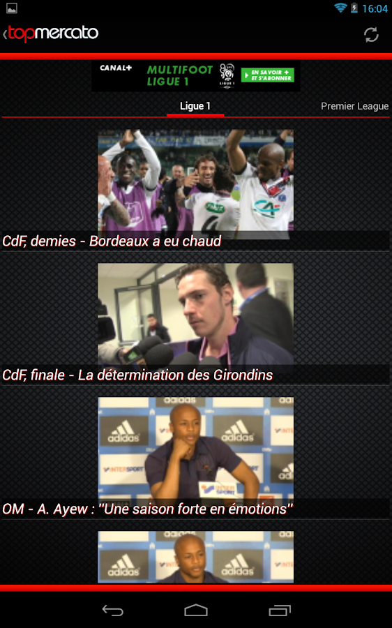 Top Mercato : actu foot - screenshot