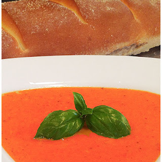 Slow-Cooker Creamy Tomato Basil Soup with 1 hour Artisan Bread