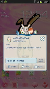 Easter Egg Rabbit GO SMS Theme- screenshot thumbnail