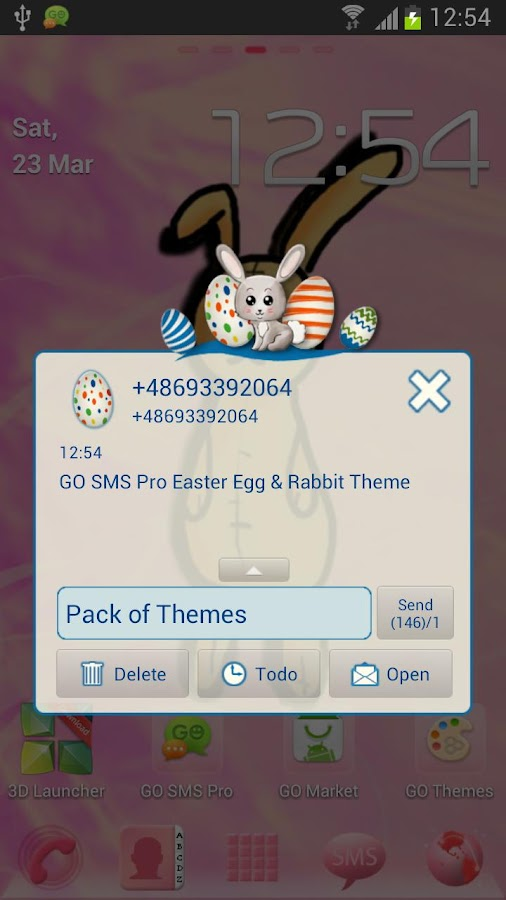 GO SMS Pro Easter Egg & Rabbit - screenshot