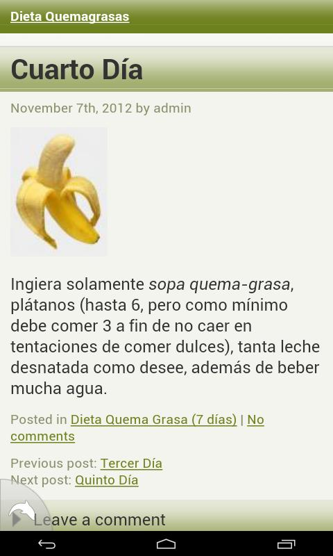 Dieta Quemagrasas - screenshot