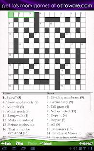 Astraware Crosswords - screenshot thumbnail