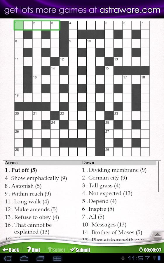 Astraware Crosswords - screenshot