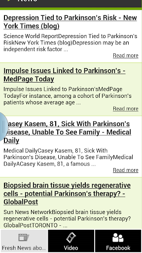 Fresh News About Parkinson