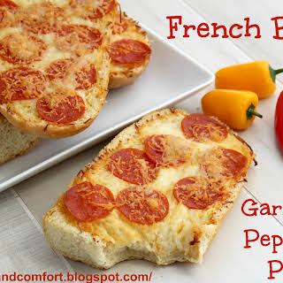 Garlic and Pepperoni French Bread Pizzas.