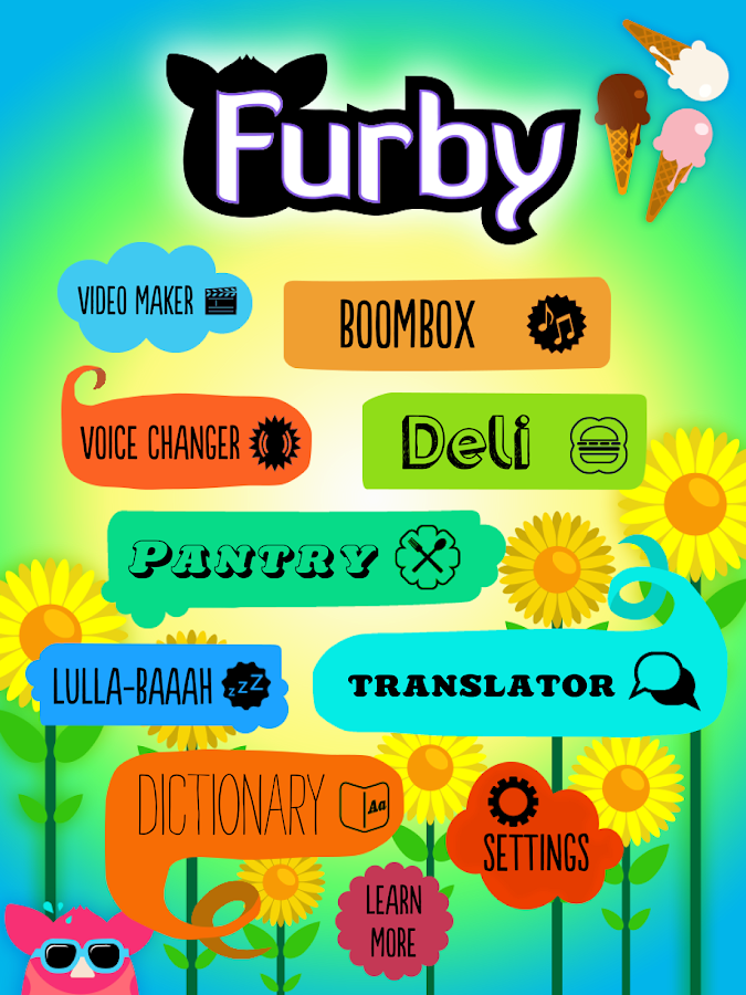 Furby: captura de tela