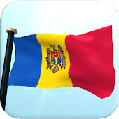 Moldova Flag 3D Free Wallpaper