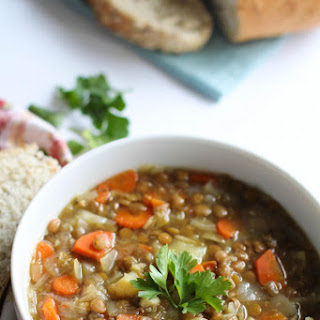 Hearty Lentil, Carrot + Potato Soup
