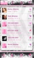 Screenshot of Glamorous Pink Zebra Contacts★