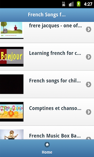 French Kids Songs