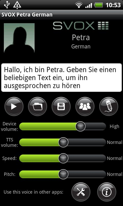 SVOX German Petra Trial- screenshot