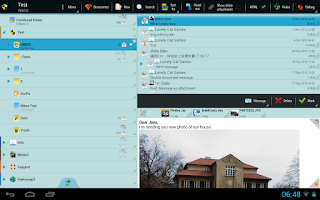 Screenshot of ProfiMail Go - email client