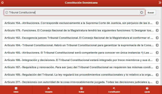 Constitución  Dominicana- screenshot