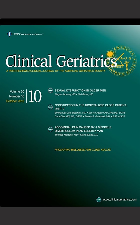 Clinical Geriatrics- screenshot