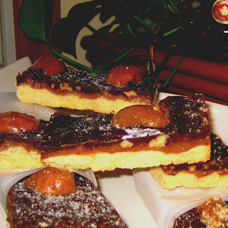 Maple, Caramel-Dark Chocolate-Pecan Shortbreads